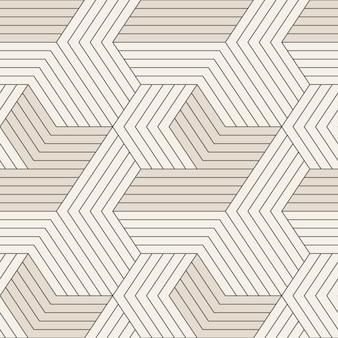 Naadloos patroon met symmetrische geometrische lijnen.
