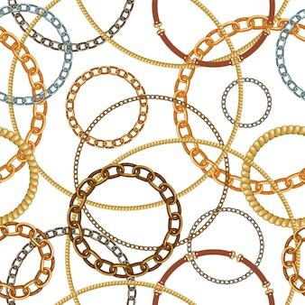 Naadloos patroon met touwen.