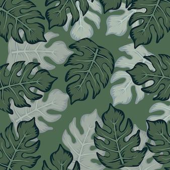 Naadloos patroon met tropische planten
