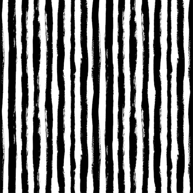 Naadloos patroon met verticale grungestrepen. moderne zwart-wit textuur.