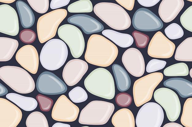 Naadloos patroon met vlotte kiezelsteen.