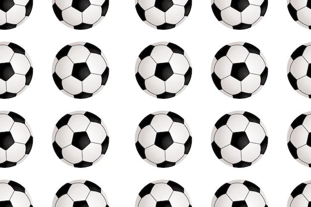 Naadloos patroon met voetbal