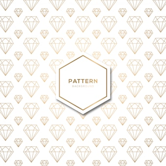 Naadloos patroon met vorm diamant