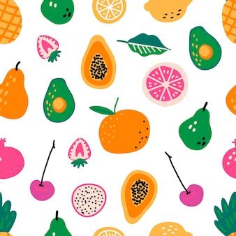 Naadloos patroon met vruchten