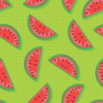 Naadloos patroon met watermeloenen