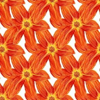 Naadloos patroon met waterverfleliebloemen. leliesachtergrond voor behang, textiel, stof of verpakkingsontwerp