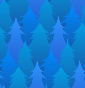 Naadloos patroon met winterbomen voor je creativiteit