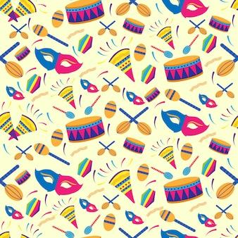 Naadloos patroon mexicaans carnaval