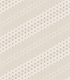 Naadloos patroon op basis van japanse kumiko-ornamenten