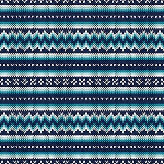 Naadloos patroon op de wol gebreide textuur