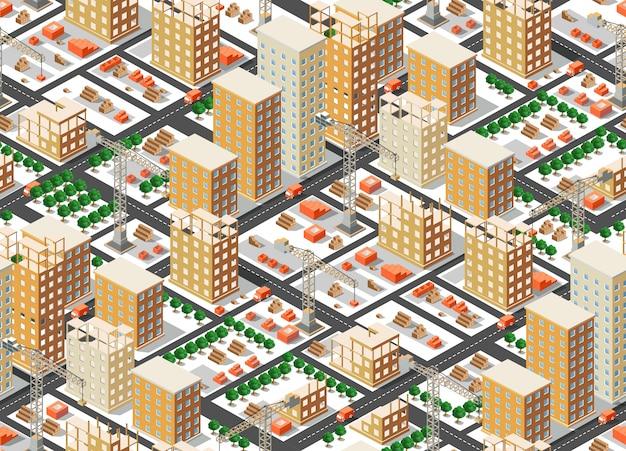 Naadloos patroon stedelijk plan
