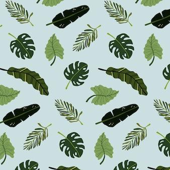 Naadloos patroon tropische bladeren als achtergrond