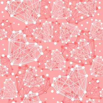 Naadloos patroon van abstracte lijn harten