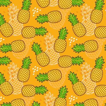 Naadloos patroon van ananas