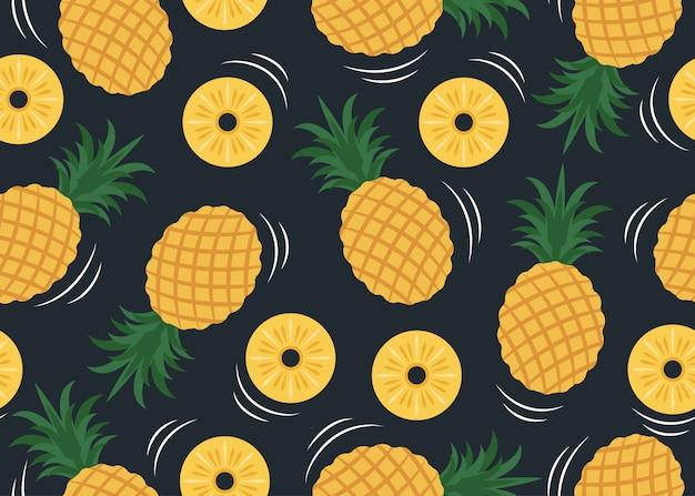 Naadloos patroon van ananaspatroon