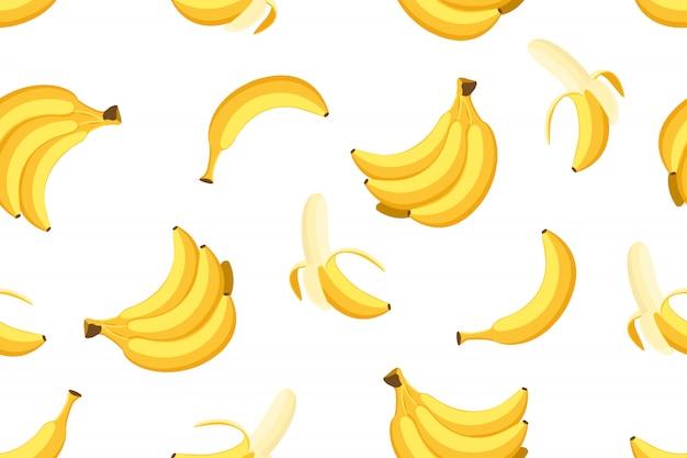 Naadloos patroon van bananen