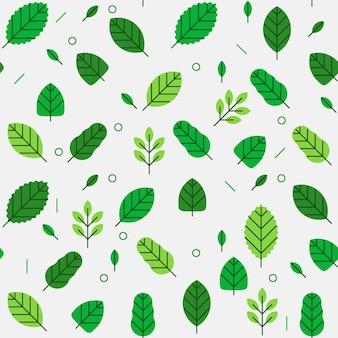 Naadloos patroon van bladeren