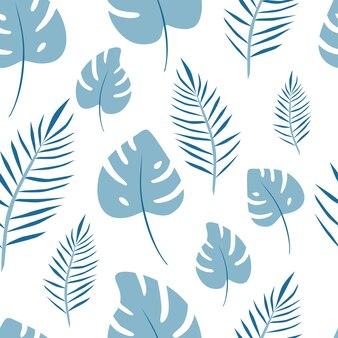 Naadloos patroon van bladpalmvector