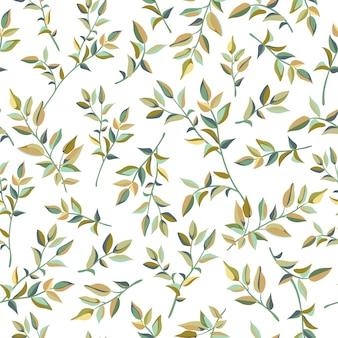 Naadloos patroon van de bladeren van liana.