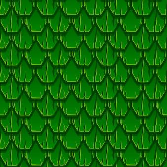 Naadloos patroon van geometrisch oud houten groen dak. gestructureerde achtergrond van zeshoekige planken.