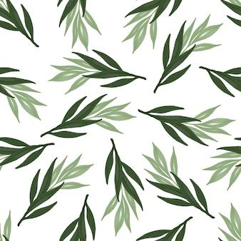Naadloos patroon van groen blad voor stof en achtergrondontwerp