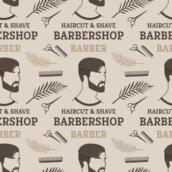 Naadloos patroon van haircut & shave barbershop barber voor de mens.
