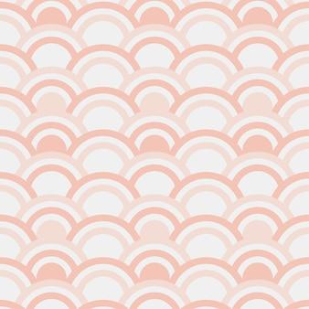 Naadloos patroon van halve cirkels