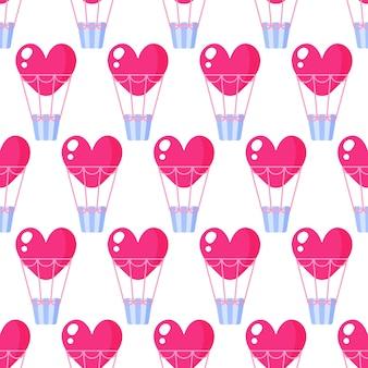 Naadloos patroon van hartballon