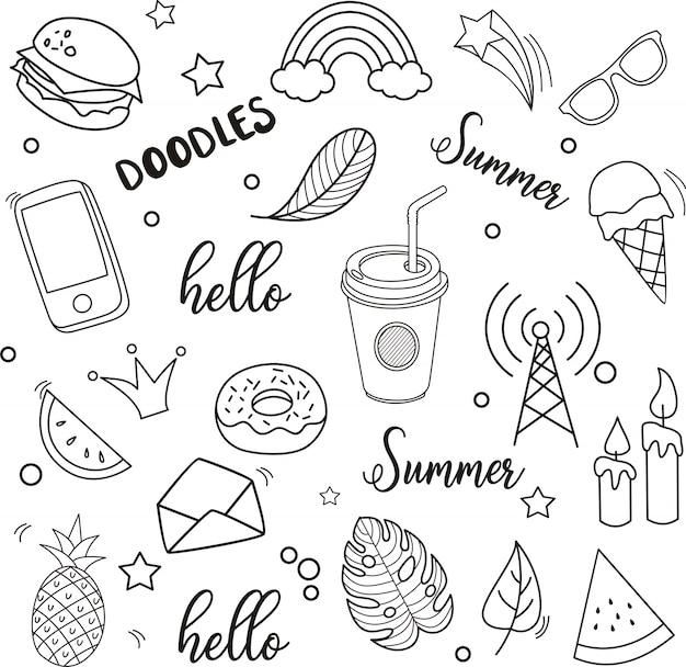 Naadloos patroon van hello-de zomer, vectorillustratie