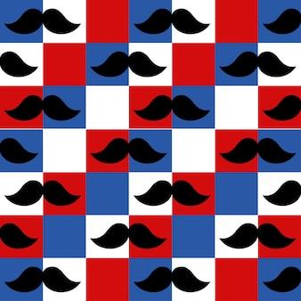 Naadloos patroon van heren snorren behang
