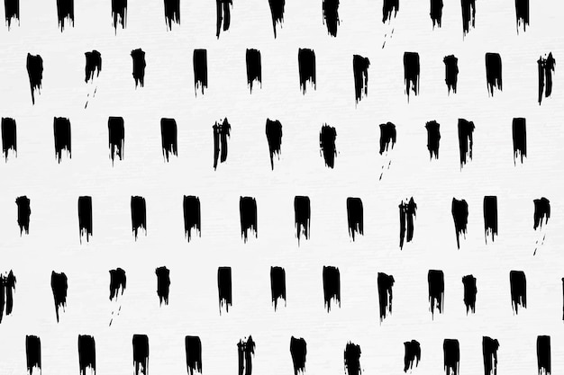Naadloos patroon van inktborstel getextureerde achtergrond