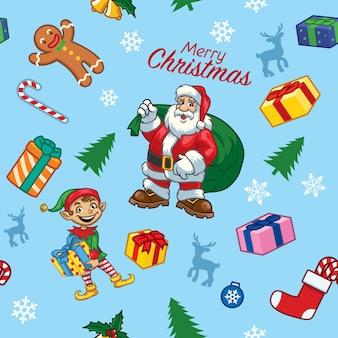 Naadloos patroon van kerstmisontwerp