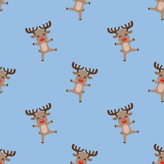 Naadloos patroon van kerstmisrendier.