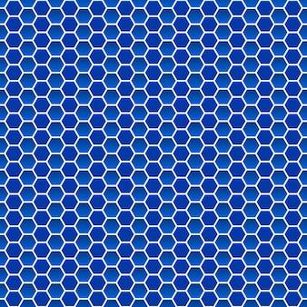 Naadloos patroon van kleine zeshoeken in blauwe kleuren