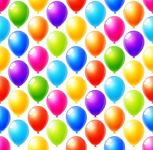 Naadloos patroon van kleurrijke ballonsachtergrond