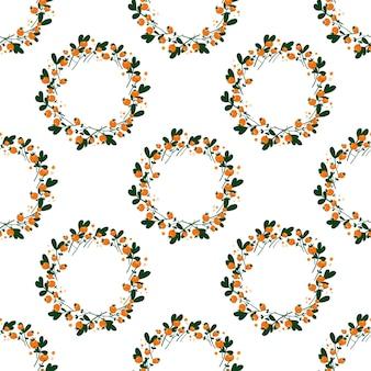 Naadloos patroon van kransen met bessen