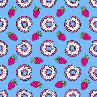 Naadloos patroon van mode-patches leuke pictogrammen vectorin jaren 90 retro concept naadloos patroon