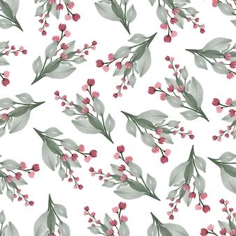 Naadloos patroon van rode wilde bloemen