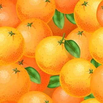 Naadloos patroon van sinaasappelen.