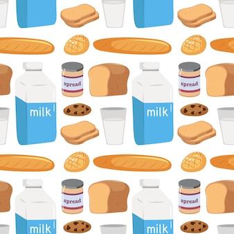 Naadloos patroon van voedsel