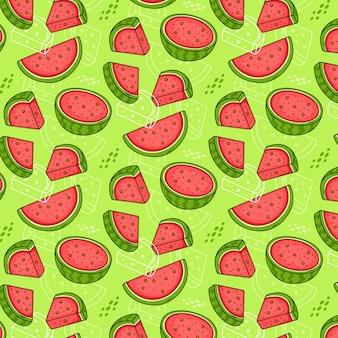 Naadloos patroon van watermeloenen