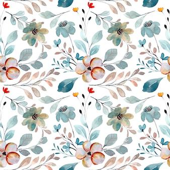 Naadloos patroon van wilde bloemen met waterverf