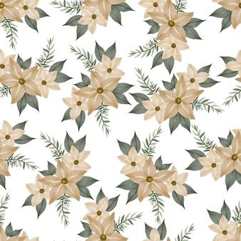 Naadloos patroon van zachte gele bloem voor textielontwerp