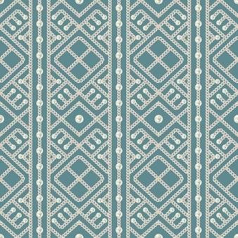 Naadloos patroon van zilveren kettingornament en parels