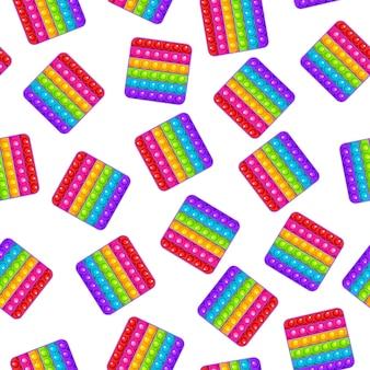 Naadloos patroon vierkant speelgoed kleurrijk zintuiglijk antistress speelgoed voor fidget pop it