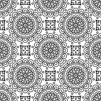 Naadloos patroon. vintage decoratieve elementen patroon