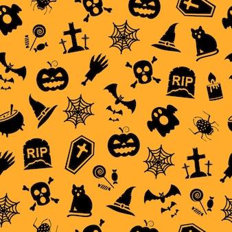 Naadloos patroon voor halloween