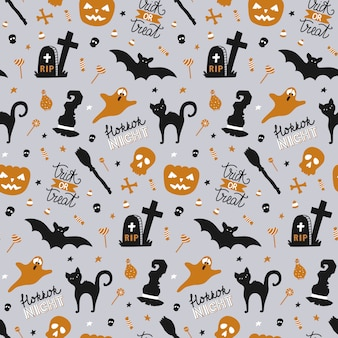 Naadloos patroon voor halloween.