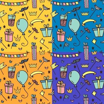Naadloos patroon voor kinderfeesten.