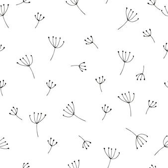 Naadloos patroon withfloral elementen. vector illustratie.